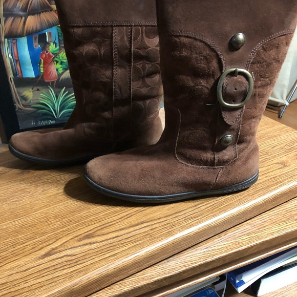COACH Suede/Shearling Boot